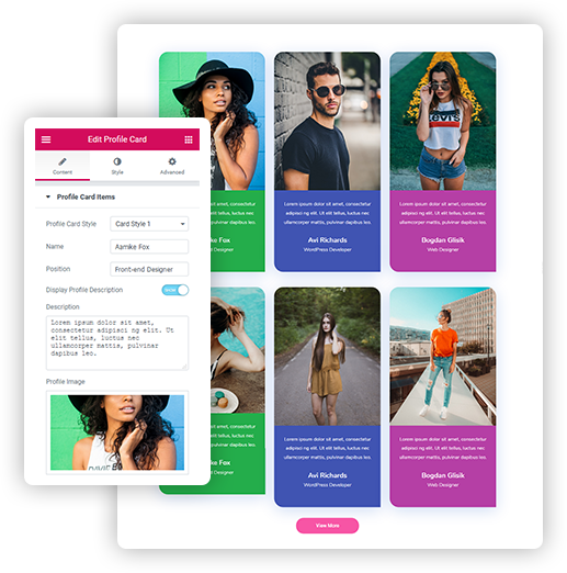 Profile Card Layouts for Elementor